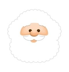 santa claus character kawaii style vector image