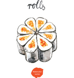 Watercolor rolls - vector