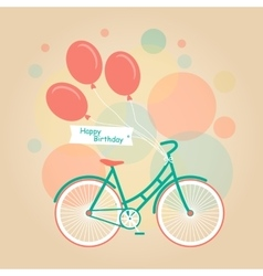 With bike and flowers vector