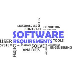 Word cloud - software requirements vector
