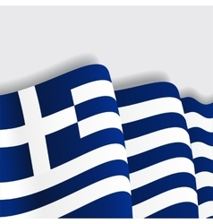 Greek waving flag vector