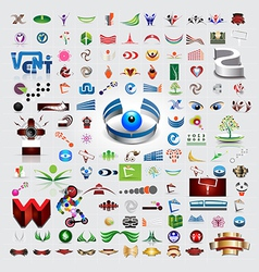 Symbols and icons set vector image