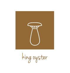 King oyster icon on brown square vector