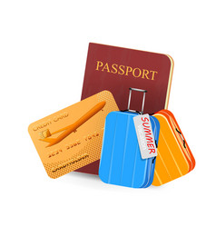 Card and passport vector