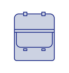 blue silhouette of opened executive briefcase vector image