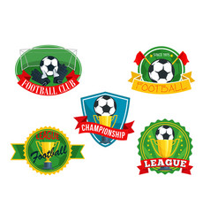 icons badges for football club championship vector image