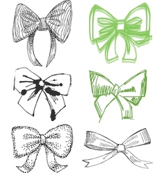Drawn bows vector