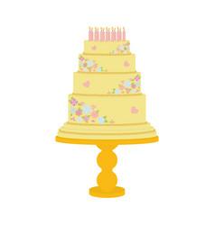 sweet cake on biege vector image