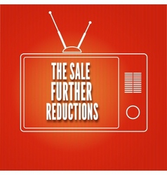Silhouette of a tv the sale further reduction vector