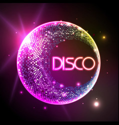 Disco ball baclground vector