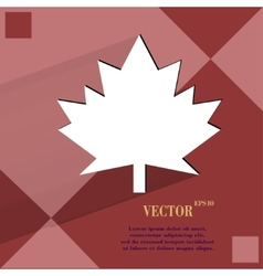 Maple leaf flat modern web design on a flat vector