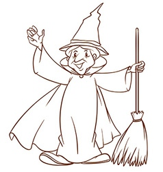 A simple sketch of a wizard vector