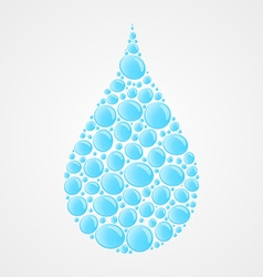 Water drops icon vector