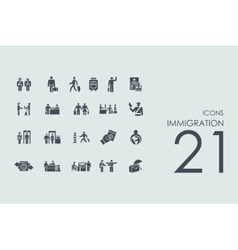 Set of immigration icons vector