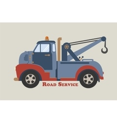 towing truck road service vector image