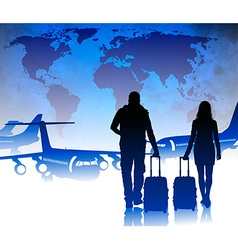 Travellers Boarding a Plane vector image