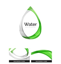Abstract geometric water drop design vector image
