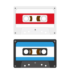 Audio cassette tapes vector