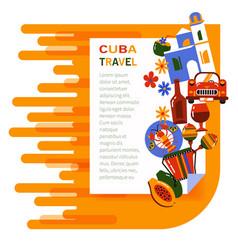 banner cuba travel vector image