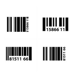 Barcode design vector