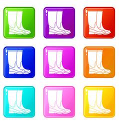 Boots set 9 vector