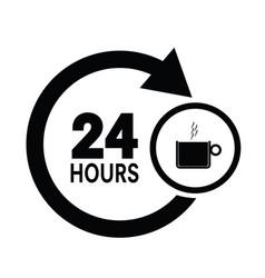coffee cup icon in black color vector image