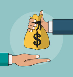 Colorful background of transaction in cash with vector