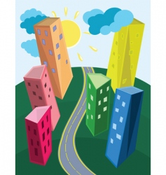 contemporary urban landscape vector image vector image