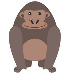 cute gorilla on white background vector image