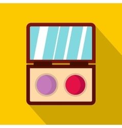 Eyeshadow palette icon flat style vector