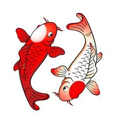 Fish yin yang vector image vector image