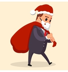 manager or businessman dressed in Santa vector image