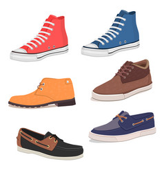 mens shoes vector image vector image