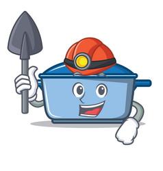 Miner kitchen character cartoon style vector