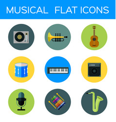 musical flat icon vector image vector image