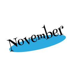 November rubber stamp vector