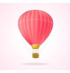 Pink hotair ballons vector