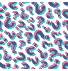 Questions Seamless pattern vector image