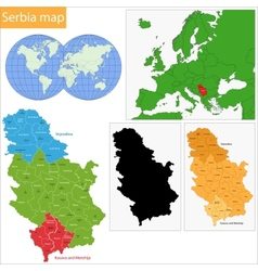 Serbia map vector