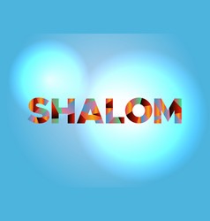 Shalom theme word art vector