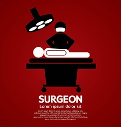 Surgeon operate on patient sign vector