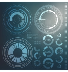 Technology element Technological background with vector image vector image