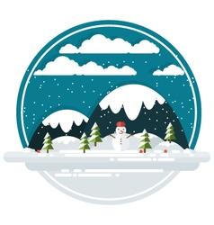 Winter Landscape vector image vector image