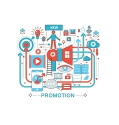 Modern Flat thin Line design Promotion promo vector image