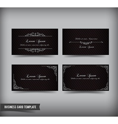 Business card template set 60 vector