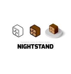 Nightstand icon in different style vector