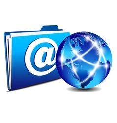 email folder and communication Internet World vector image