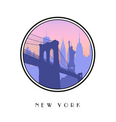icon new york city vector image