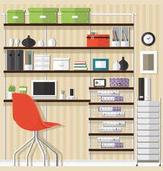 Home office design vector