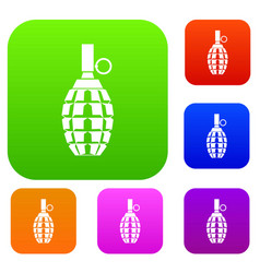 Grenade set collection vector